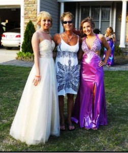 Kristty with daughter Alex and Ashley Brown - Prom Hair